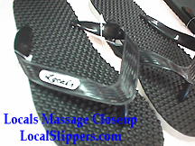 b16612618f6e ... Local s slippers Massage slippers comes in Black
